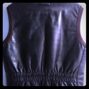 Reversible leather vest